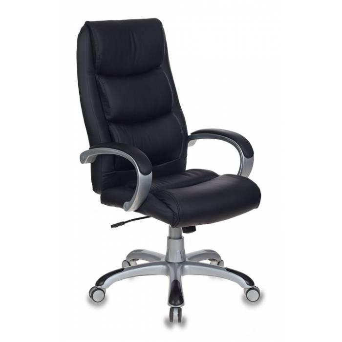 Кресло руководителя Бюрократ CH-S840N/BLACK черный искусственная кожа (пластик серебро) купить по выгодным ценам