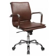 Кресло Бюрократ Ch-993-Low коричневый искусственная кожа низк.спин. крестовина металл хром