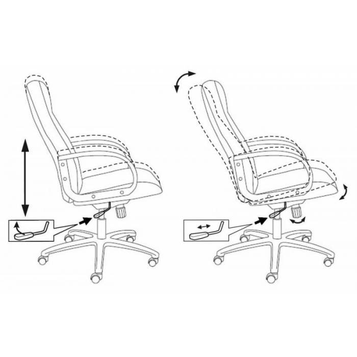 Кресло руководителя Бюрократ T-898/3С11BL черный 3С11 купить по выгодным ценам