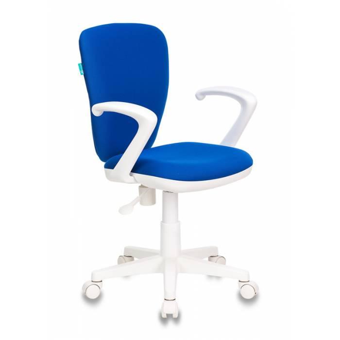 Кресло детское Бюрократ KD-W10AXSN/26-21 синий 26-21 (пластик белый) купить по выгодным ценам