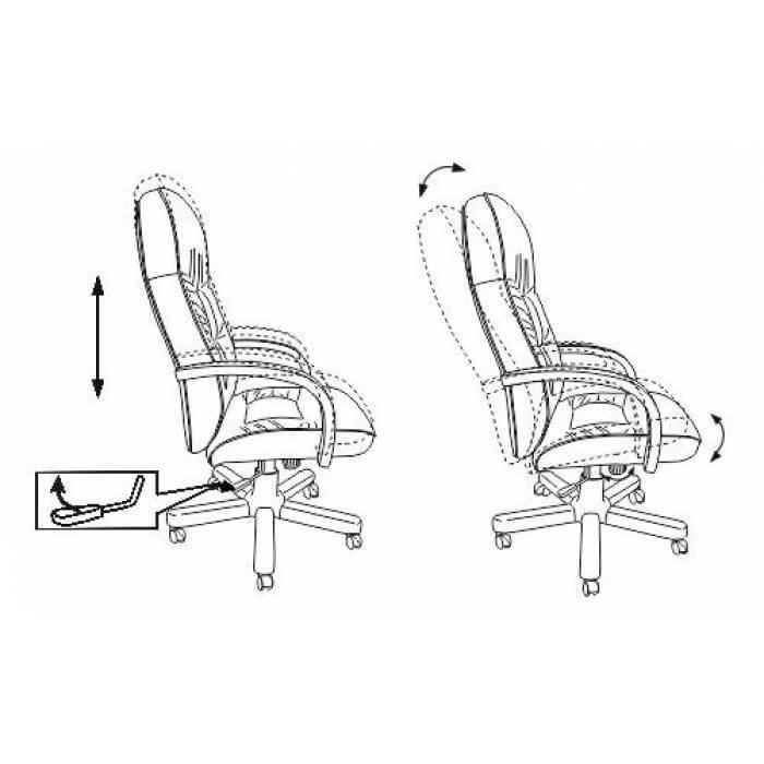 Кресло руководителя Бюрократ T-9908/WALNUT черный кожа крестовина металл купить по выгодным ценам