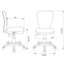 Кресло детское Бюрократ KD-W10/26-32 светло-зеленый 26-32 (пластик белый)