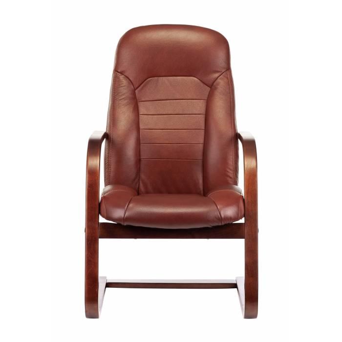Кресло Бюрократ T-9923WALNUT-AV светло-коричневый Leather Eichel кожа полозья дерево (T-9923WALNUT-AV/CH) купить по выгодным ценам