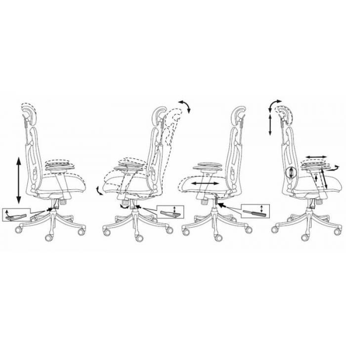 Кресло Бюрократ Ch-999ASX черный сиденье черный TW-11 сетка/ткань с подголов. крестовина металл хром купить по выгодным ценам