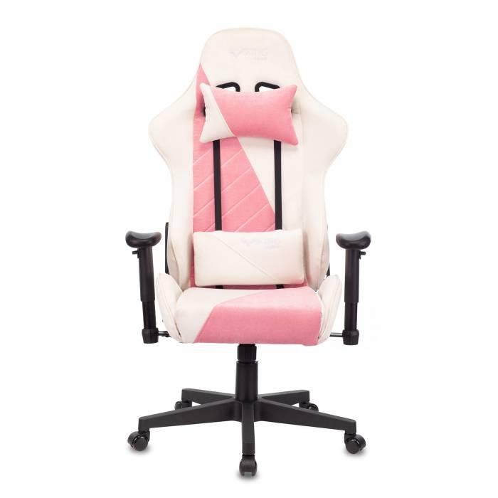 Кресло игровое Бюрократ VIKING X Fabric белый/розовый с подголов. крестовина пластик (VIKING X PINK) купить по выгодным ценам