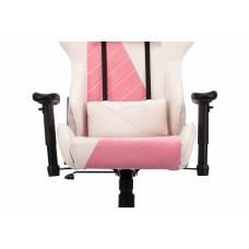 Кресло игровое Бюрократ VIKING X Fabric белый/розовый с подголов. крестовина пластик (VIKING X PINK)