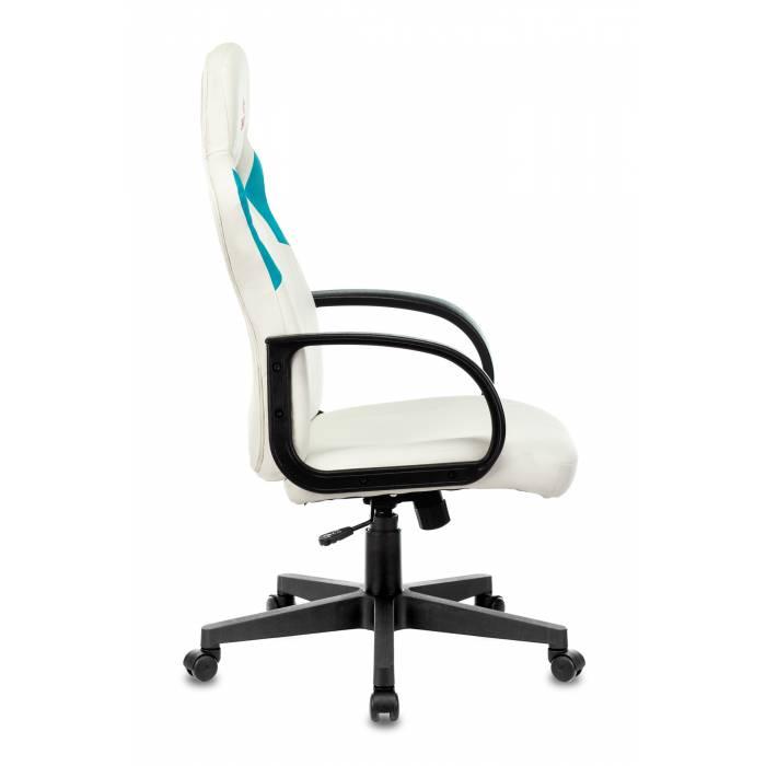Игровое кресло Бюрократ ZOMBIE RUNNER белый/голубой искусственная кожа крестовина пластик купить по выгодным ценам