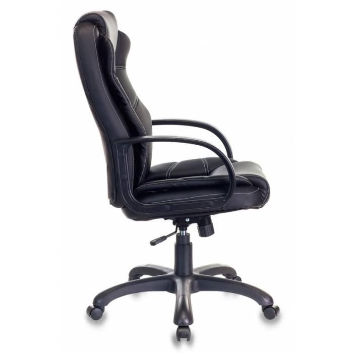 Кресло Бюрократ CH-839 черный Leather Black искусственная кожа крестовина пластик купить по выгодным ценам