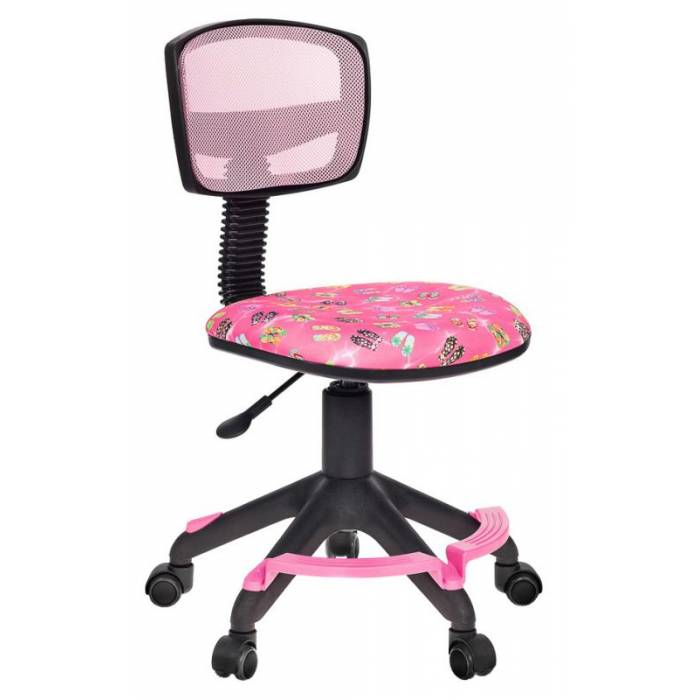 Детское кресло Бюрократ CH-299-F розовый сланцы сетка/ткань крестовина пластик подст.для ног купить по выгодным ценам