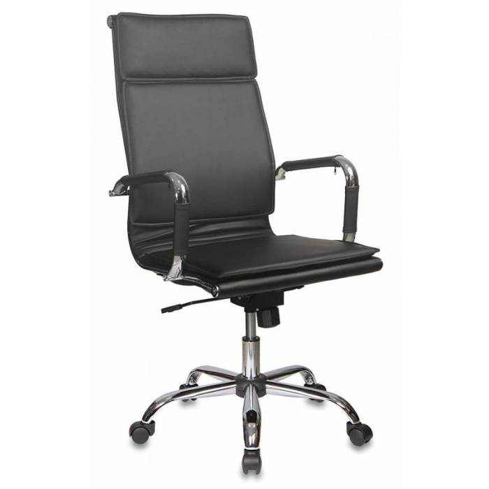 Кресло руководителя Бюрократ CH-993/black черный искусственная кожа крестовина хром купить по выгодным ценам