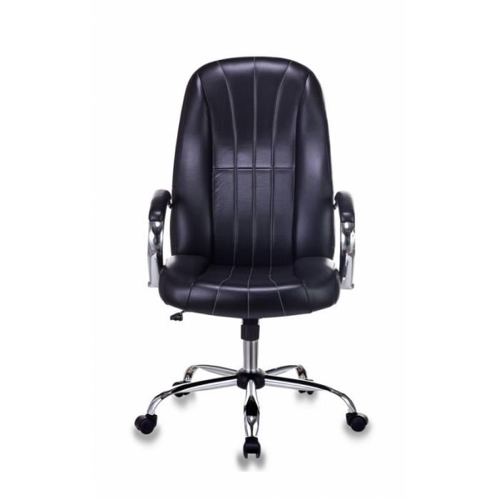 Кресло руководителя Бюрократ T-898SL/BLACK черный искусственная кожа крестовина хром купить по выгодным ценам