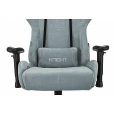 Игровое кресло Бюрократ VIKING KNIGHT Fabric серо-голубой Light-28 с подголов. крестовина металл