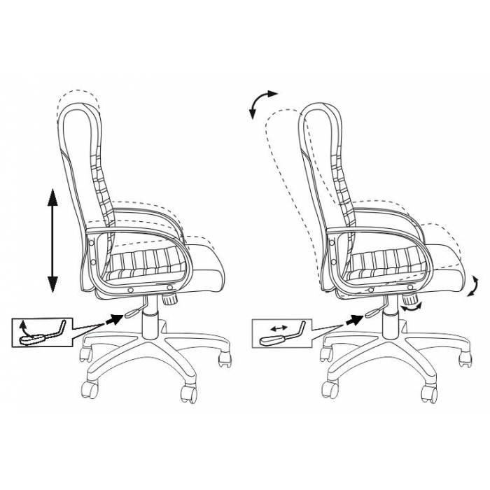 Кресло руководителя Бюрократ KB-10LITE/BLACK черный искусственная кожа купить по выгодным ценам