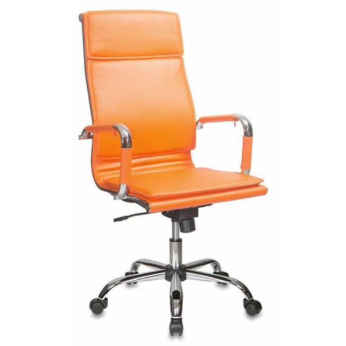 Кресло Бюрократ CH-993 оранжевый искусственная кожа крестовина металл хром купить по выгодным ценам