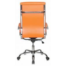 Кресло руководителя Бюрократ CH-993/orange оранжевый искусственная кожа крестовина хром