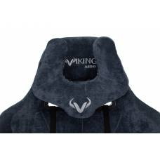 Игровое кресло Бюрократ VIKING KNIGHT Fabric синий Light-27 с подголов. крестовина металл