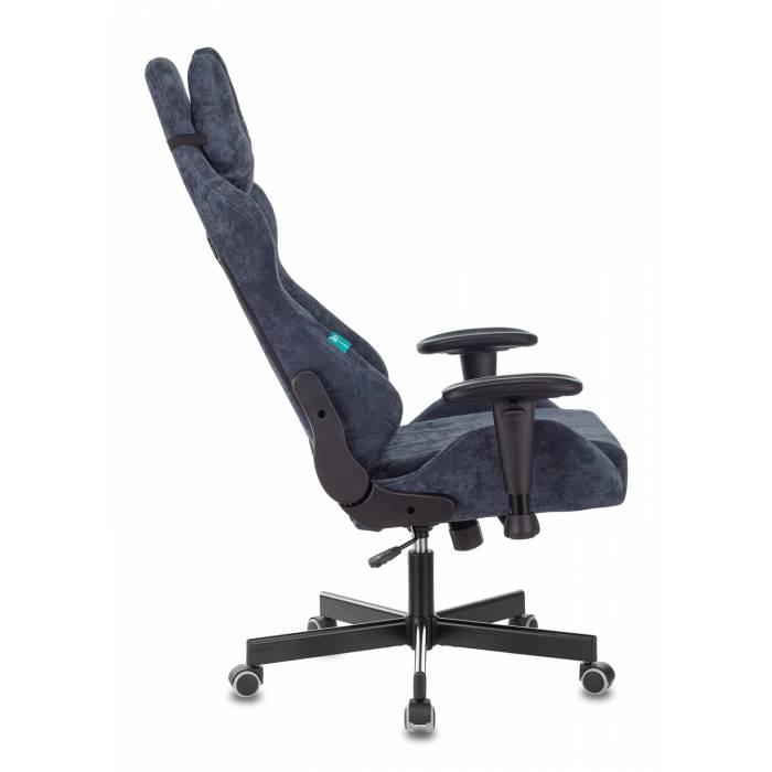 Кресло игровое Бюрократ VIKING KNIGHT LT27 FABRIC синий крестовина пластик купить по выгодным ценам