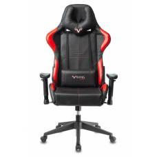 Игровое кресло Бюрократ VIKING 5 AERO черный/красный искусственная кожа с подголов. крестовина пластик