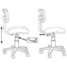Кресло детское Бюрократ CH-W299/LB/TW-55 спинка сетка голубой TW-31 TW-55 (пластик белый)