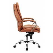 Кресло Бюрократ T-9950 рыжий Leather Ontano кожа крестовина металл хром