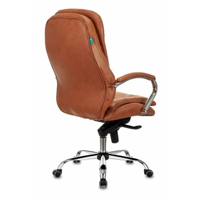 Кресло руководителя Бюрократ T-9950 рыжий Leather Ontano кожа крестовина металл хром (T-9950/ONTANO) купить по выгодным ценам