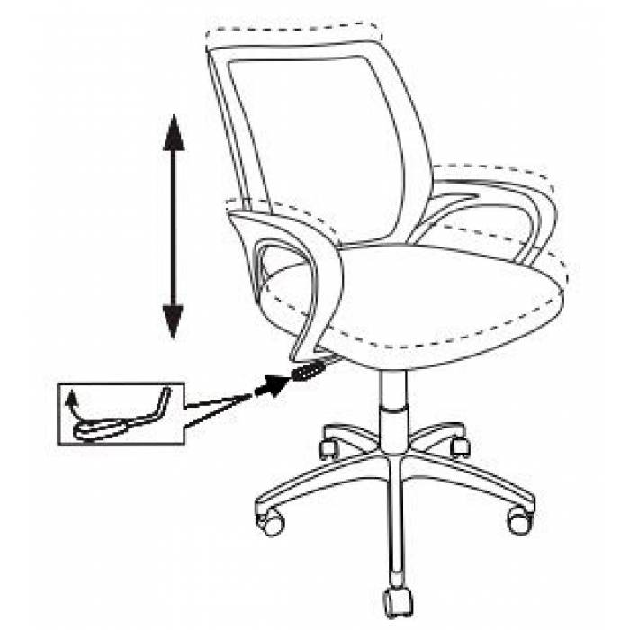Кресло Бюрократ CH-695NLT темно-серый TW-04 сиденье черный TW-11 сетка/ткань крестовина пластик купить по выгодным ценам