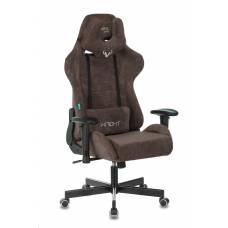 Кресло игровое Бюрократ VIKING KNIGHT LT10 FABRIC коричневый крестовина пластик