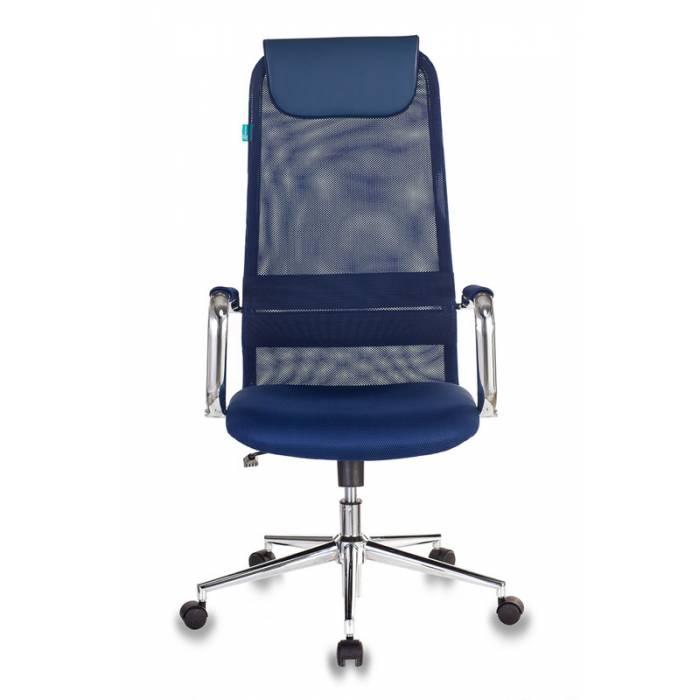 Кресло Бюрократ KB-9N синий TW-05N TW-10N сетка с подголов. крестовина металл хром купить по выгодным ценам