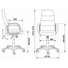 Кресло руководителя Бюрократ CH-808AXSN/LBL+TW-11 черный искусст.кожа/сетка