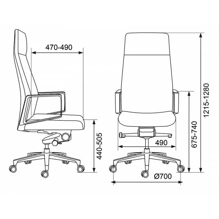 Кресло руководителя Бюрократ _JONS/CASHGREY серый крестовина алюминий купить по выгодным ценам