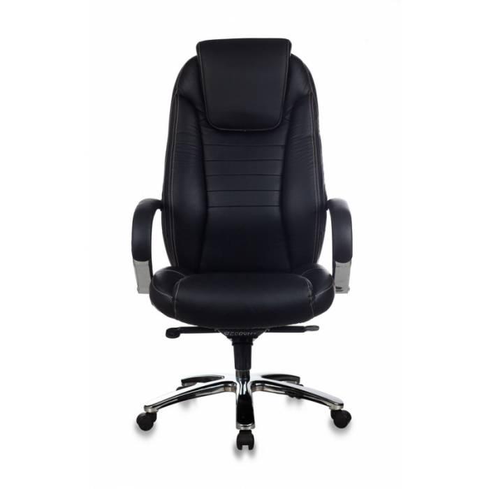Кресло Бюрократ T-9923SL черный кожа крестовина металл хром купить по выгодным ценам