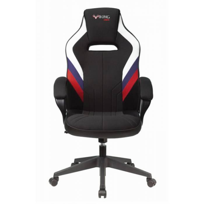 Кресло игровое Бюрократ VIKING 3 AERO RUS белый/синий/красный черный искусст.кожа/ткань купить по выгодным ценам