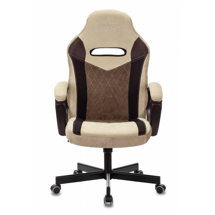 Кресло игровое Бюрократ VIKING 6 KNIGHT BR FABRIC коричневый крестовина металл купить по выгодным ценам