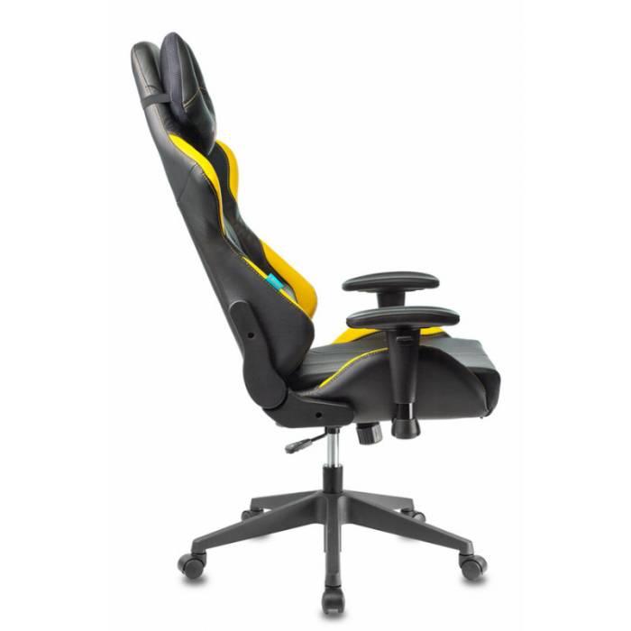 Кресло игровое Бюрократ VIKING 5 AERO YELLOW черный/желтый искусственная кожа купить по выгодным ценам