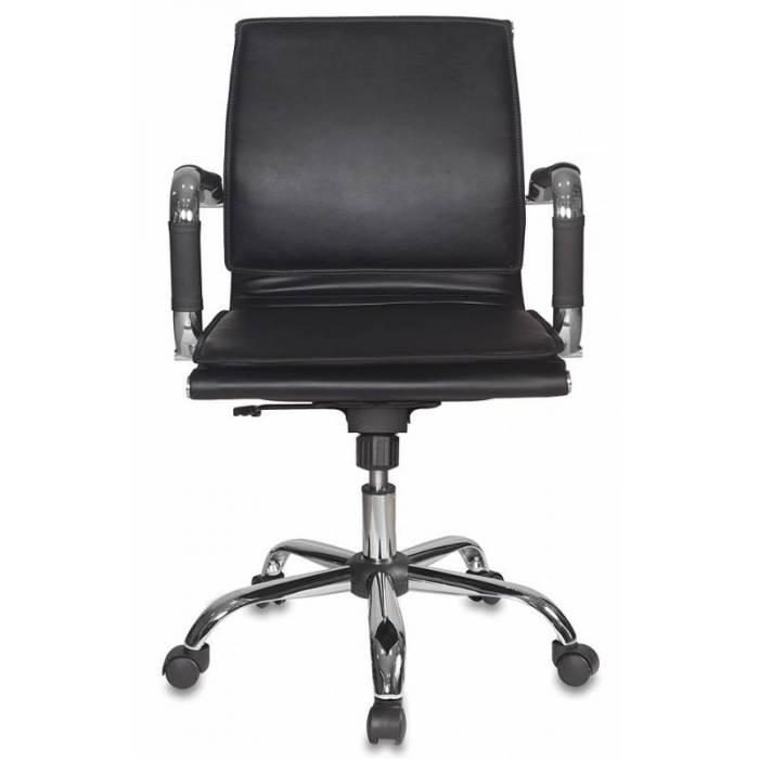Кресло руководителя Бюрократ CH-993-Low/Black низкая спинка черный искусственная кожа крестовина хром купить по выгодным ценам