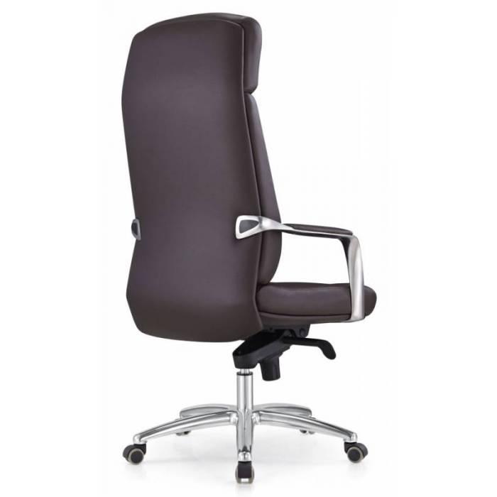 Кресло руководителя Бюрократ _DAO/BROWN коричневый кожа крестовина алюминий купить по выгодным ценам
