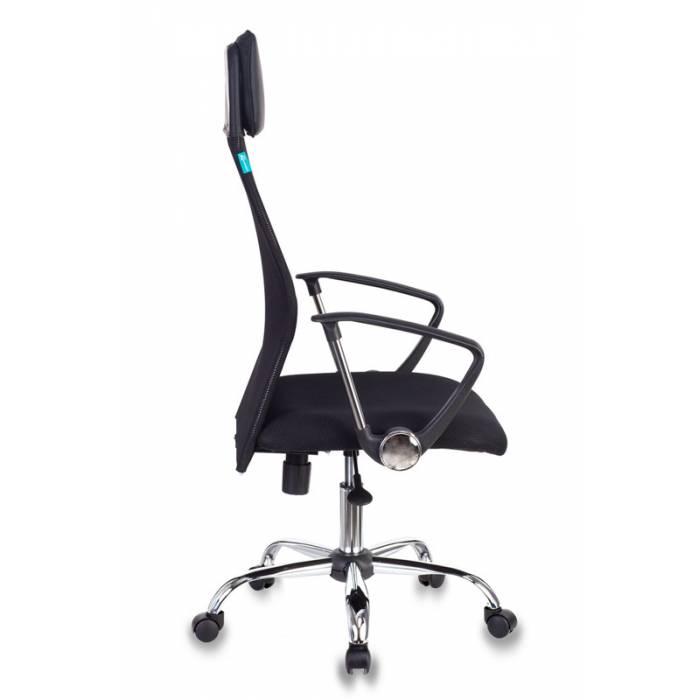 Кресло руководителя Бюрократ KB-6N/SL/B/TW-11 черный TW-01 TW-11 сетка крестовина хром купить по выгодным ценам