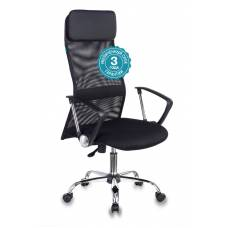 Кресло руководителя Бюрократ KB-6N/SL/B/TW-11 черный TW-01 TW-11 сетка крестовина хром