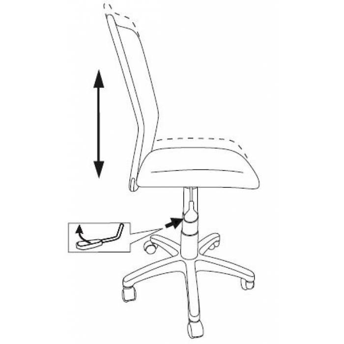 Кресло детское Бюрократ KD-9/WH/TW-18 салатовый TW-03А TW-18 сетка/ткань (пластик белый) купить по выгодным ценам
