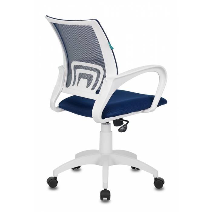 Кресло Бюрократ CH-W695N темно-синий TW-05N TW-10N сетка/ткань крестовина пластик пластик белый купить по выгодным ценам