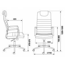 Кресло руководителя Бюрократ KB-9N/ECO/OR-12 бежевый сиденье бежевый искусственная кожа крестовина хром колеса черный