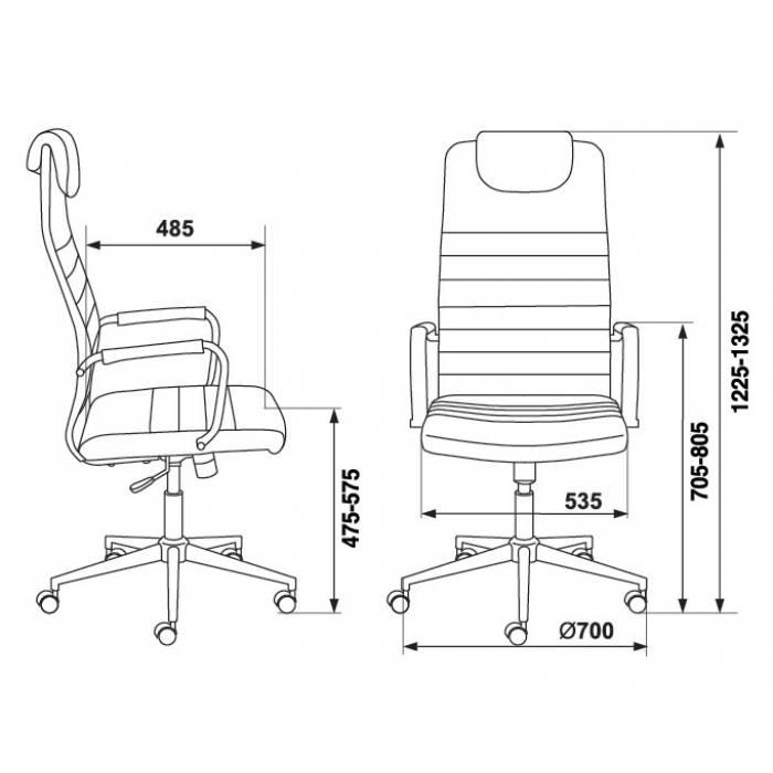 Кресло руководителя Бюрократ KB-9N/ECO/OR-12 бежевый сиденье бежевый искусственная кожа крестовина хром колеса черный купить по выгодным ценам