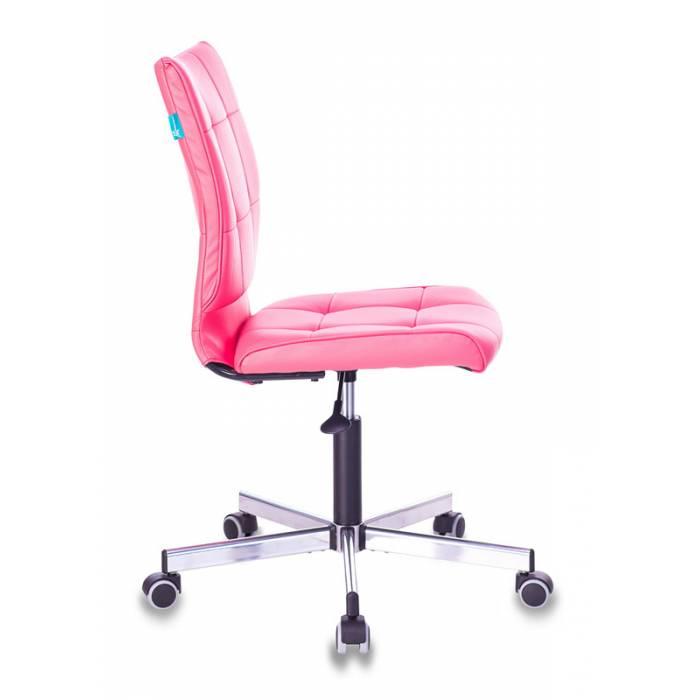 Кресло Бюрократ CH-330M/PINK без подлокотников розовый искусственная кожа крестовина металл купить по выгодным ценам