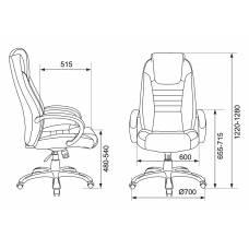 Кресло руководителя Бюрократ T-9923/BLACK-PU черный искусственная кожа