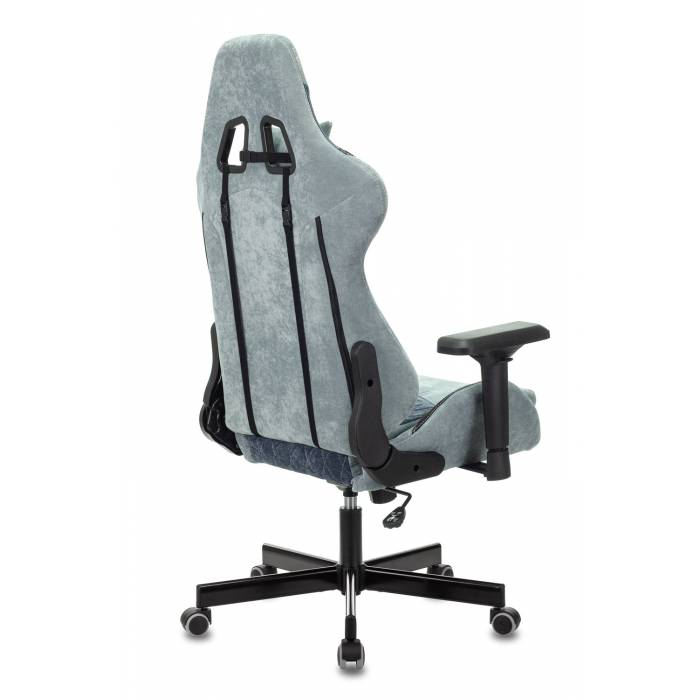Игровое кресло Бюрократ VIKING 7 KNIGHT Fabric синий текстиль/эко.кожа с подголов. крестовина металл купить по выгодным ценам