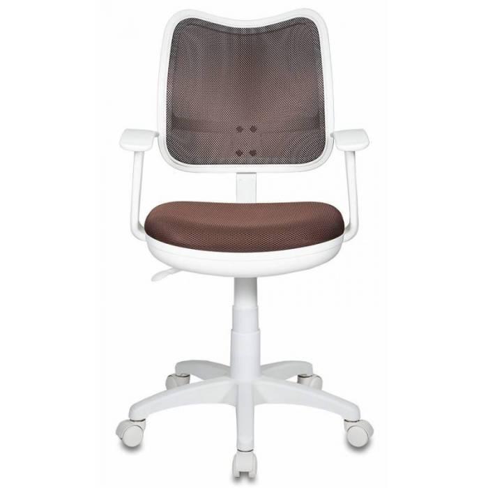 Кресло детское Бюрократ CH-W797/BR/TW-14C спинка сетка коричневый сиденье коричневый TW-14C (пластик белый) купить по выгодным ценам