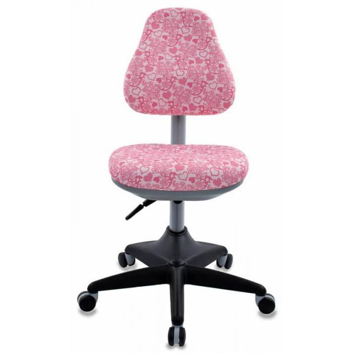 Кресло детское Бюрократ KD-2/PK/HEARTS-PK розовый сердца Hearts-Pk купить по выгодным ценам