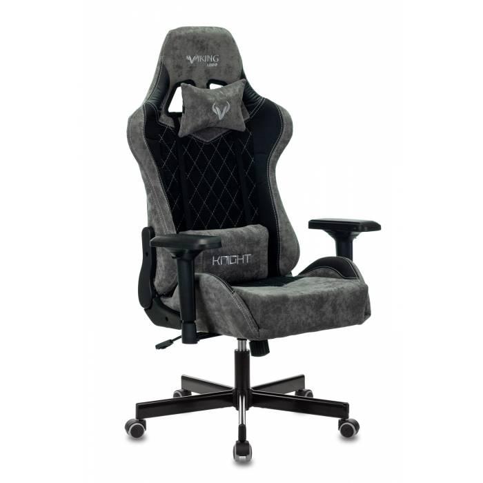 Кресло игровое Бюрократ VIKING 7 KNIGHT B FABRIC черный текстиль/эко.кожа крестовина металл купить по выгодным ценам