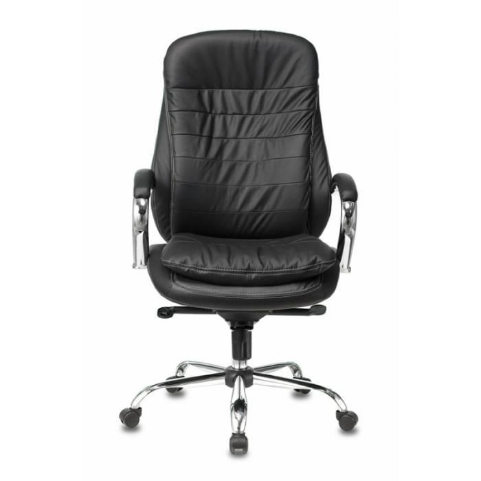 Кресло Бюрократ T-9950 черный кожа крестовина металл хром купить по выгодным ценам