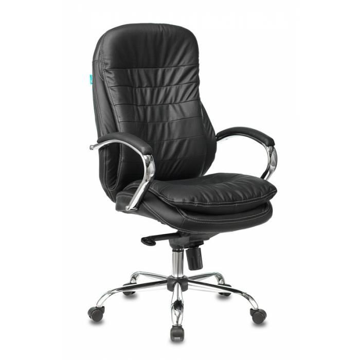 Кресло руководителя Бюрократ T-9950/BLACK черный кожа крестовина хром купить по выгодным ценам